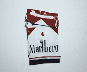 marlboro, cigarette, and smoke image