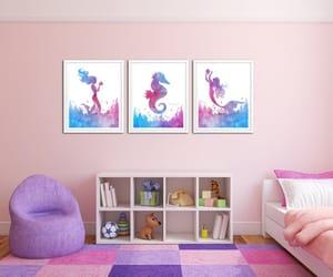 etsy, mermaid, and sea creatures image