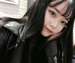 asian, ulzzang, and black image