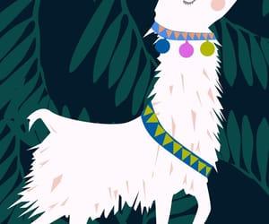 background, kawaii, and lama image