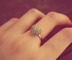 ring, heart, and photography image