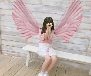 angel, pink, and ulzzang image