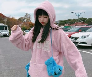 pink, ulzzang, and asian image