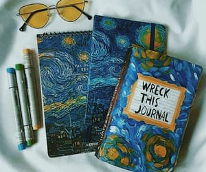 blue, van gogh, and aesthetic image