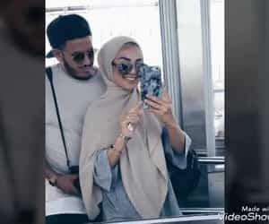 couple, hijab, and cute image