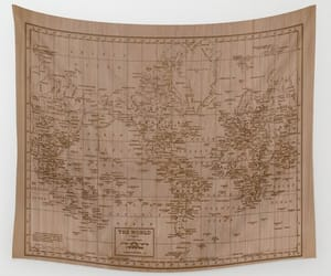 bedroom decor, etsy, and map of the world image