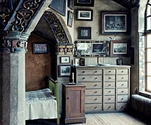 blue, old, and room image