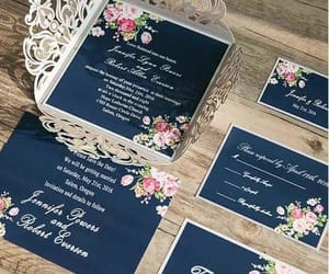 ideas, royal blue, and invitations image