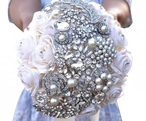 bouquet, flower, and glitter image
