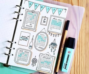 cyan, journaling, and fineliner image