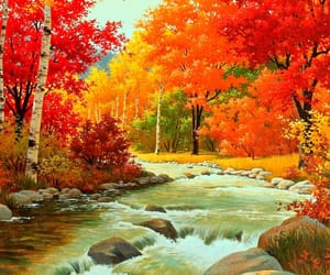 autumn, nature, and painting image
