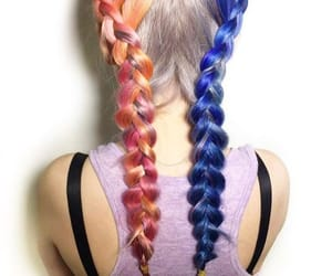 braids, colored, and colored hair image