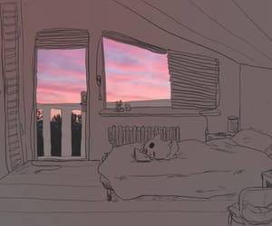 room, art, and sky image