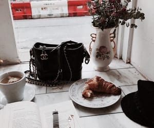 bag, breakfast, and chanel image