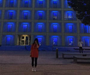 blue, girl, and neon image