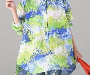 blue shirt, casual shirt, and women blouse image