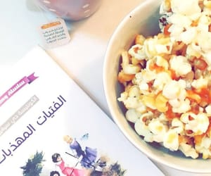 book, home, and popcorn image