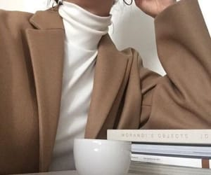 beige, outfit, and white image