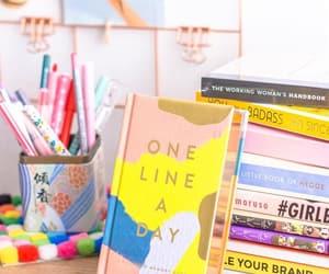 bibliophile, books, and desk image