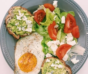 healthy, avocat, and toast image