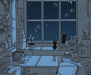 aesthetic, blue, and constellations image