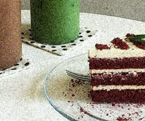 cake, drink, and edit image