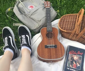 art, guitar, and shoes image