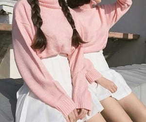 blush, braids, and clothes image