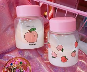 milk, peach, and pink image