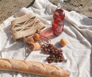 baguette, basket, and orange image