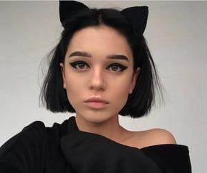 cat, make up, and hair image