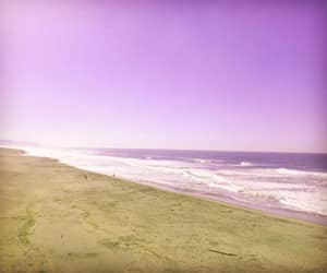beach, lilac, and photography image