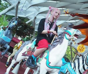 alternative, carousel, and hairstyle image
