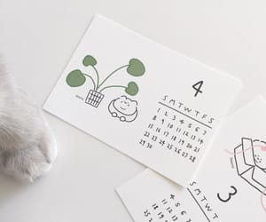 aesthetic, calendar, and white image