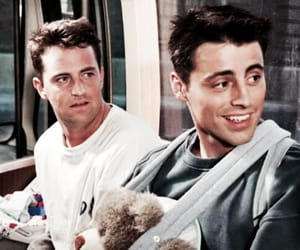 friends, chandler bing, and joey tribbiani image
