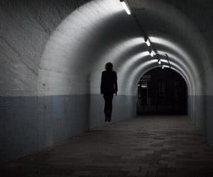 dark, tunnel, and Flying image