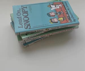 blue, books, and snoopy image