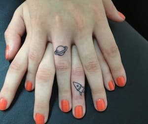 tattoo, nails, and planet image
