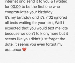 birthday, text, and broken image