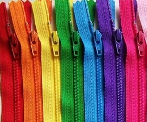 rainbow, colors, and zipper image