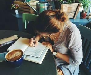 Image de study, girl, and coffee
