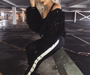 fashion, outfit, and pose image