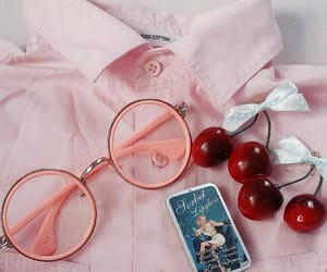 cherry, pink, and aesthetic image