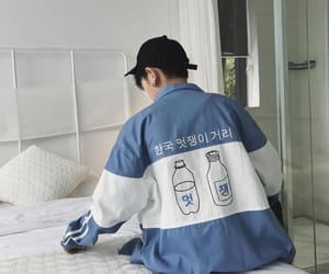 aesthetic, clothes, and blue image