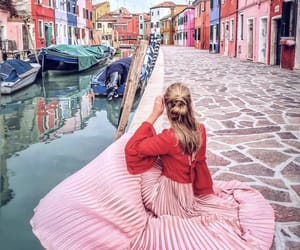 fashion, pink, and travel image