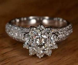 beautiful, diamonds are forever, and diamond engagement ring image