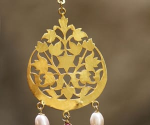 gold, jewellery, and ear rings image