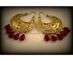 jewellery, golg, and ear rings image
