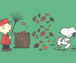 autumn, peanuts, and snoopy image