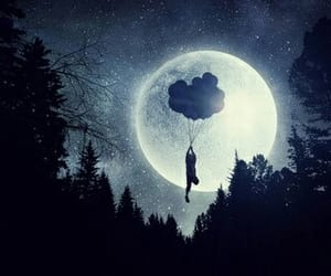 child, cloud, and night image